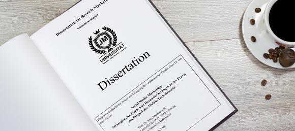 Lektorat Dissertation Überblick