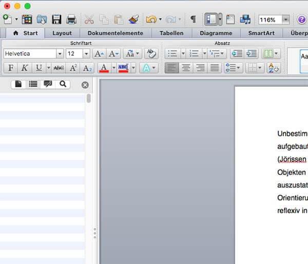 Navigationsleiste-Word-Mac