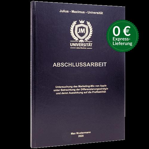 Abschlussarbeit Standard Hardcover Stoerern