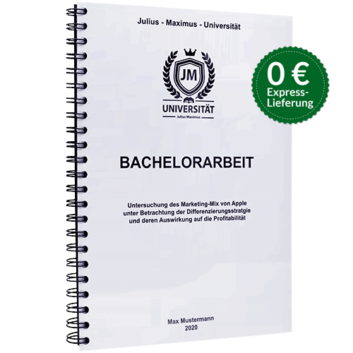 Bachelorarbeit binden Spiralbindung