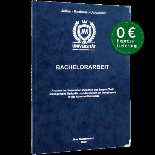 Bachelorarbeit drucken binden Premium-Hardcover blau