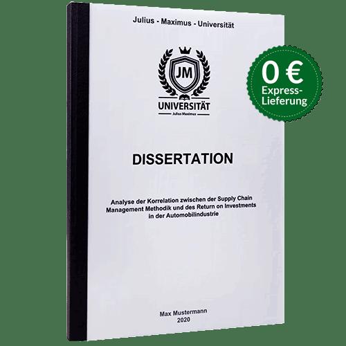 dissertation pflichtexemplare drucken