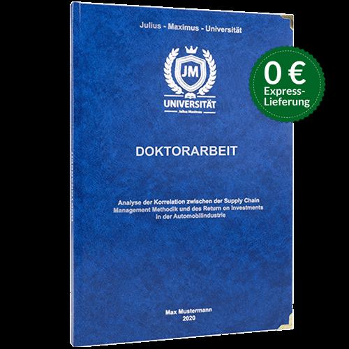Doktorarbeit drucken binden Standard Hardcover