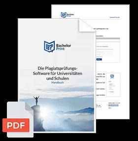 Plagiatssoftware-handbuch