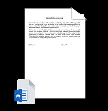 Eidesstattliche Erklärung Vorlage 2