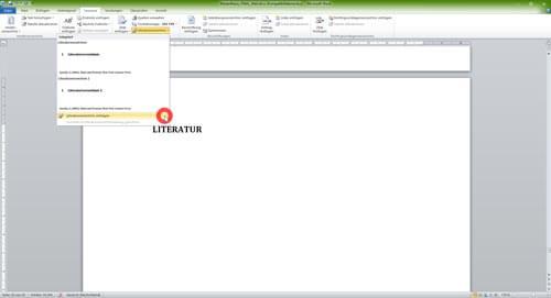 Automatisches Literaturverzeichnis Word