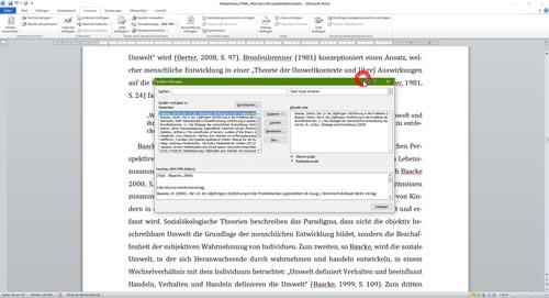 Literaturverzeichnis Verwaltung Quellen Word