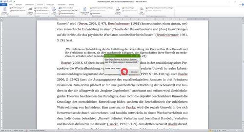 Literaturverzeichnis Word Name Platzhalter Kurzverweis