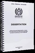 Dissertation drucken in der Spiralbindung