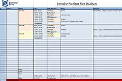 Kolloquium Lernplan erstellen