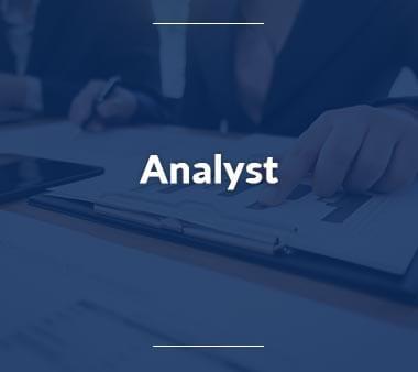 Analyst Bürojobs