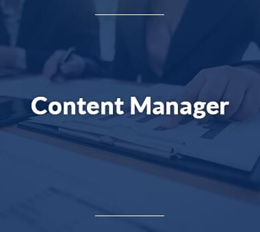 Content Manager Bürojobs
