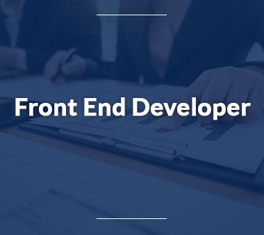 Front End Developer Bürojobs
