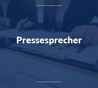 Pressesprecher Bürojobs