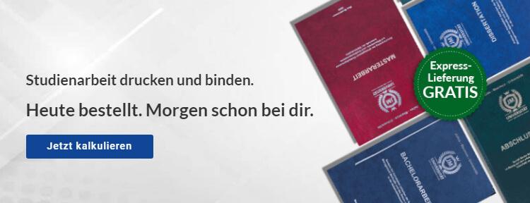 Dissertation drucken binden lassen online