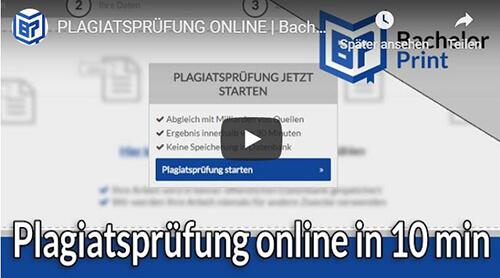 Plagiatsprüfung Erklärung Video