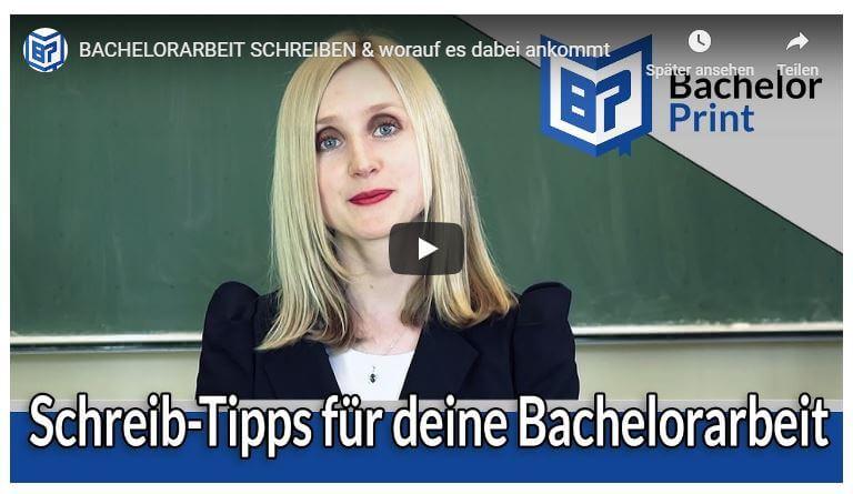 Bachelorarbeit schreiben Video Tutorial