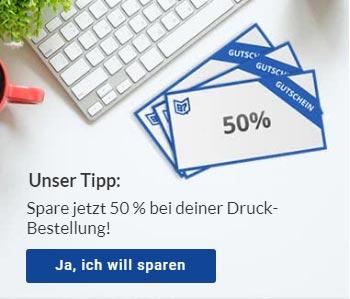 Copyshop Salzburg 50 Prozent sparen