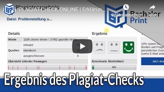 Ergebnis Plagiat-Check online