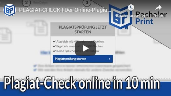 Plagiat-Check online Tutorial