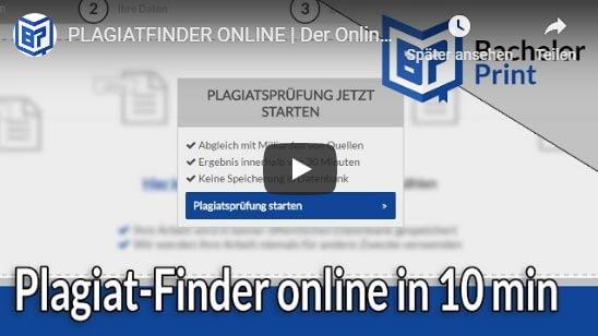 Plagiat-Finder online Tutorial