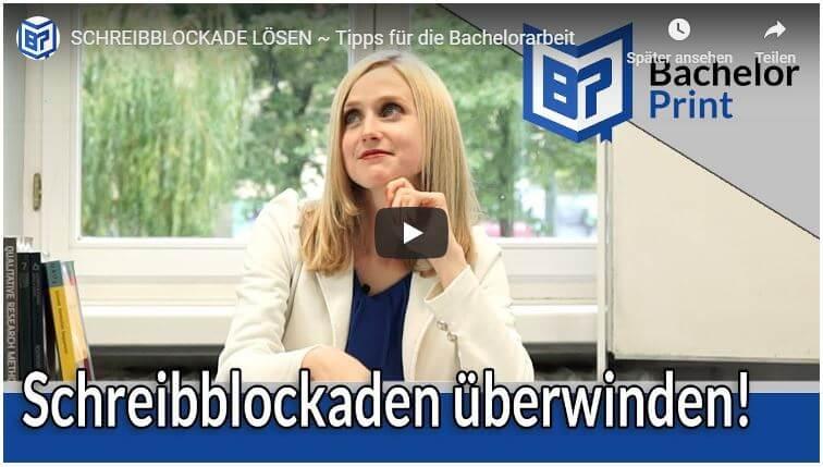 Schreibblockade lösen Video Tutorial