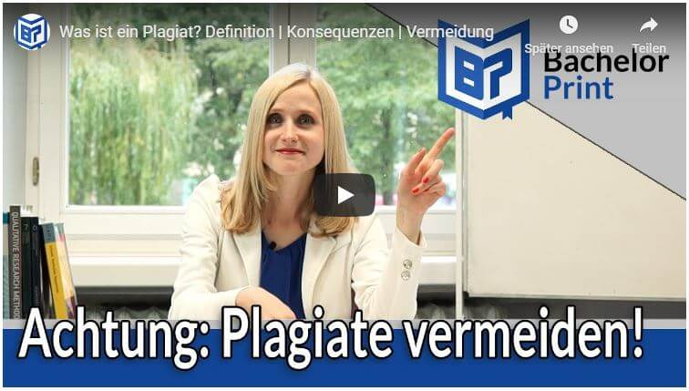 Was ist ein Plagiat Video Tutorial.