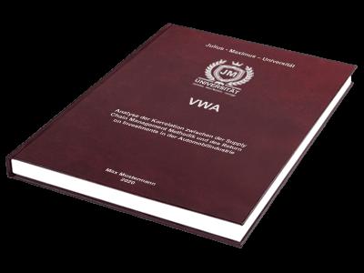 VWA drucken binden Hardcover Premium rot Prägung silber