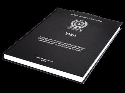 VWA drucken binden Hardcover Premium schwarz Silberprägung