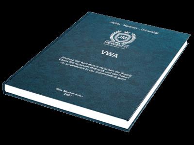 VWA drucken binden Hardcover Standard Prägung Gratis
