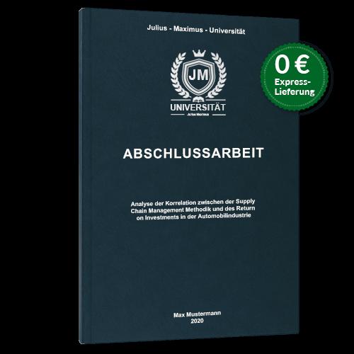 Abschlussarbeit binden Premium Hardcover