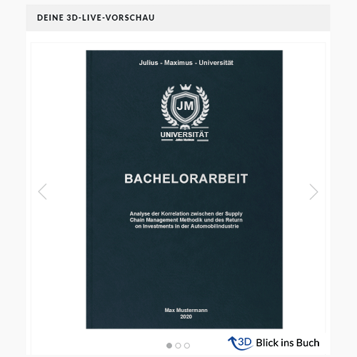 Bachelorarbeit binden Hardcoverbindung Premium