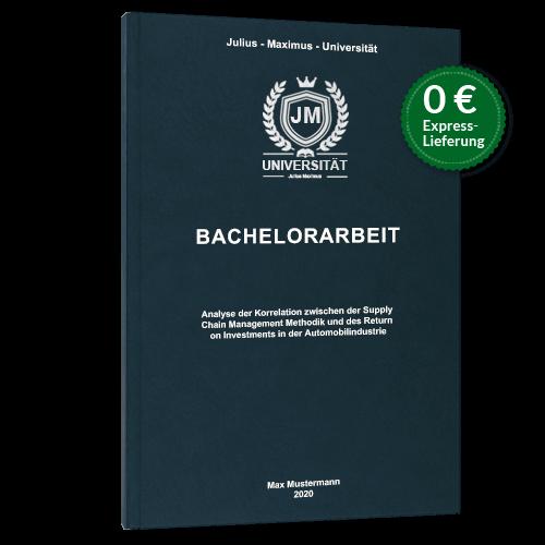Bachelorarbeit drucken binden Hardcover Premium blau