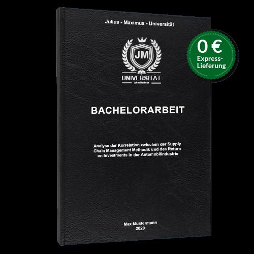Bachelorarbeit drucken binden schwarz Hardcover Standard