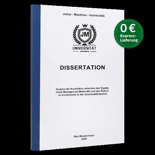 Dissertation drucken Klebebindung stehend