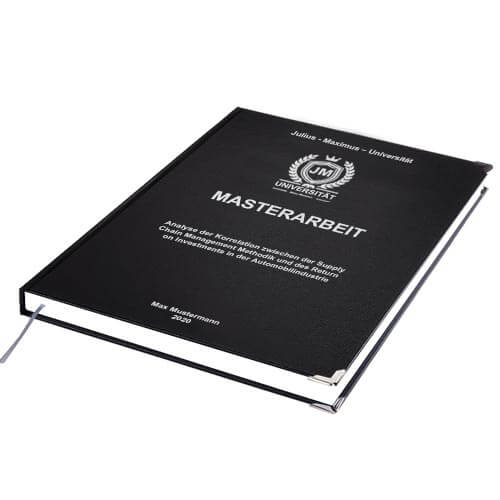 Masterarbeit binden Standard Hardcover liegend