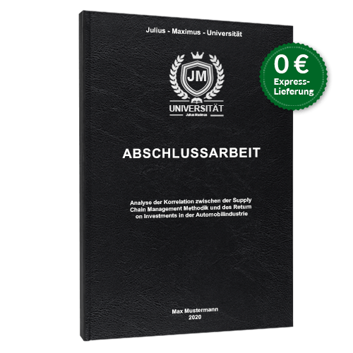 Abschlussarbeit binden online Hardcover Standard