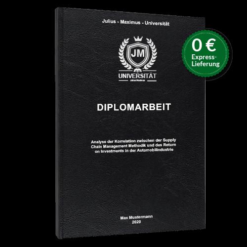 Diplomarbeit binden lassen Standard Hardcover