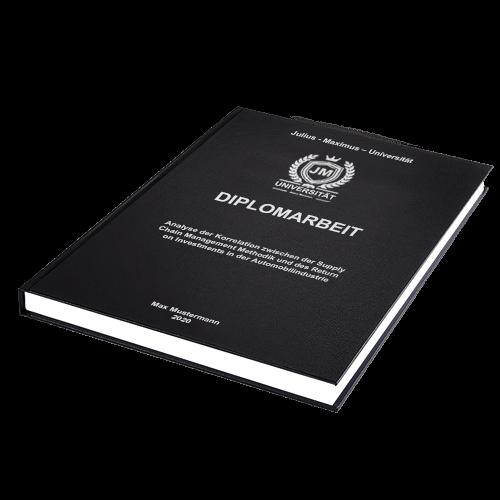 Diplomarbeit drucken Standard Hardcover liegend