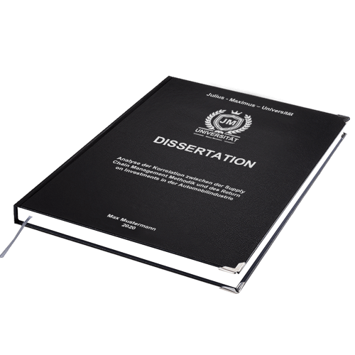 Dissertation drucken binden Standard Hardcover