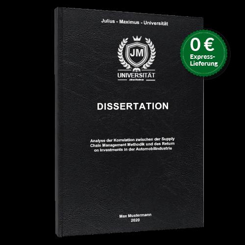Dissertation binden schwarz Standard Hardcover
