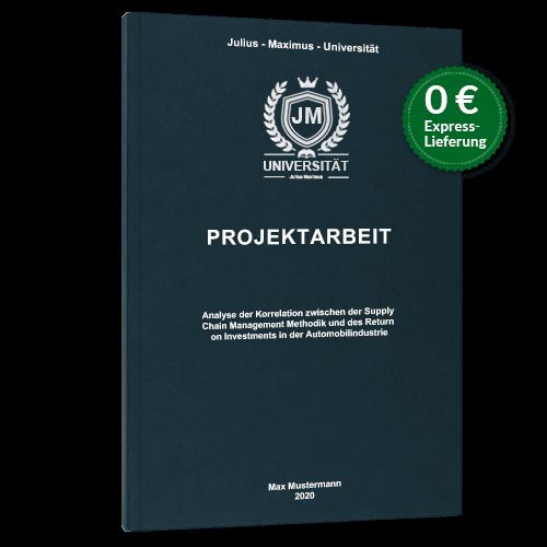 Projektarbeit drucken binden Hardcover blau Premium