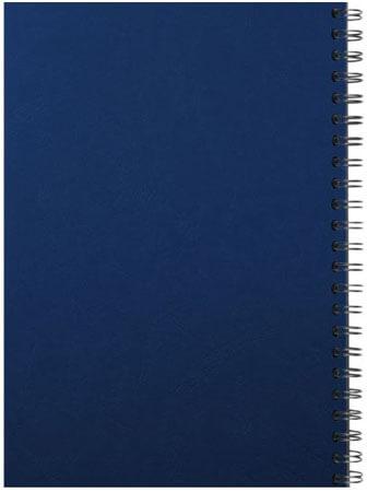 Spiralbindung Rücken blau