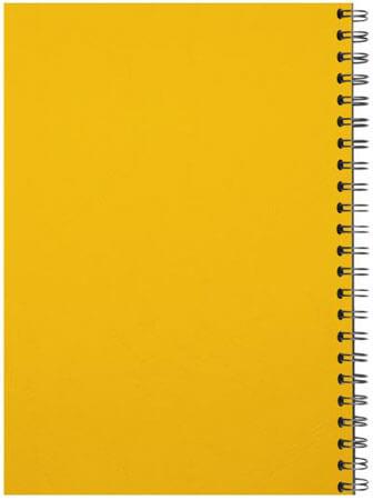 Spiralbindung Rücken gelb