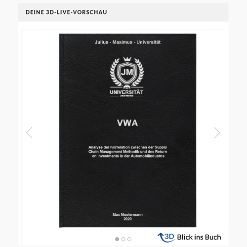VWA drucken binden Blick ins Buch Premium Hardcover Standard Hardcover