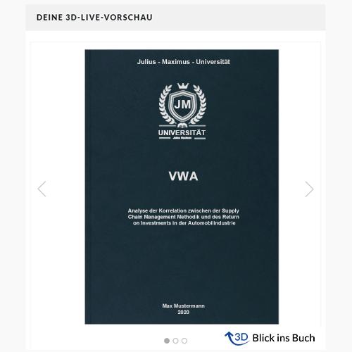 VWA drucken binden Blick ins Buch Premium Hardcover