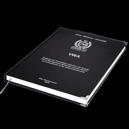 VWA drucken binden Hardcover-Bindung schwarz