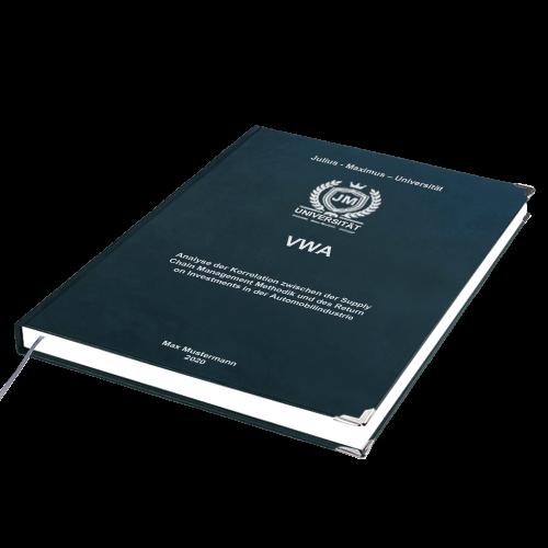 VWA drucken binden Premium Hardcover Buchecken