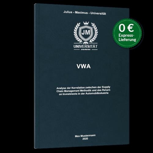 VWA drucken binden lassen Premium Hardcover Bindung