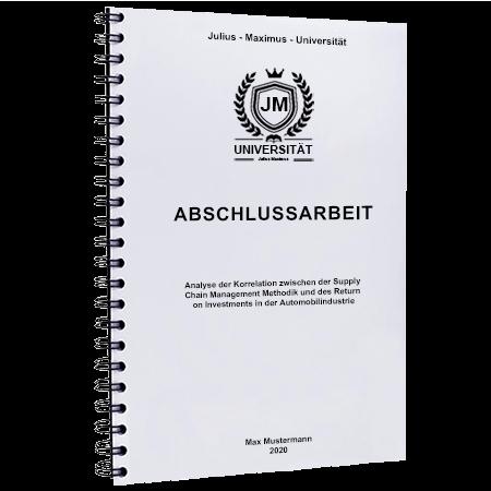 Abschlussarbeit binden Salzburg